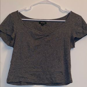 Grey Crop Top size Small
